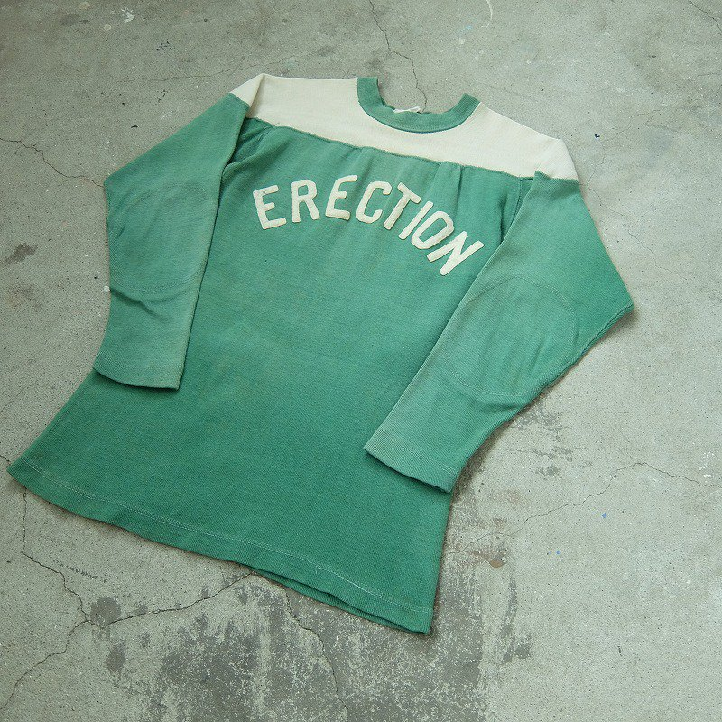Two Tone Football Shirt with Felt Lettering