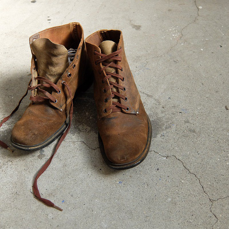 WW2 U.S.MILITARY ROUGH-OUT BOOTS