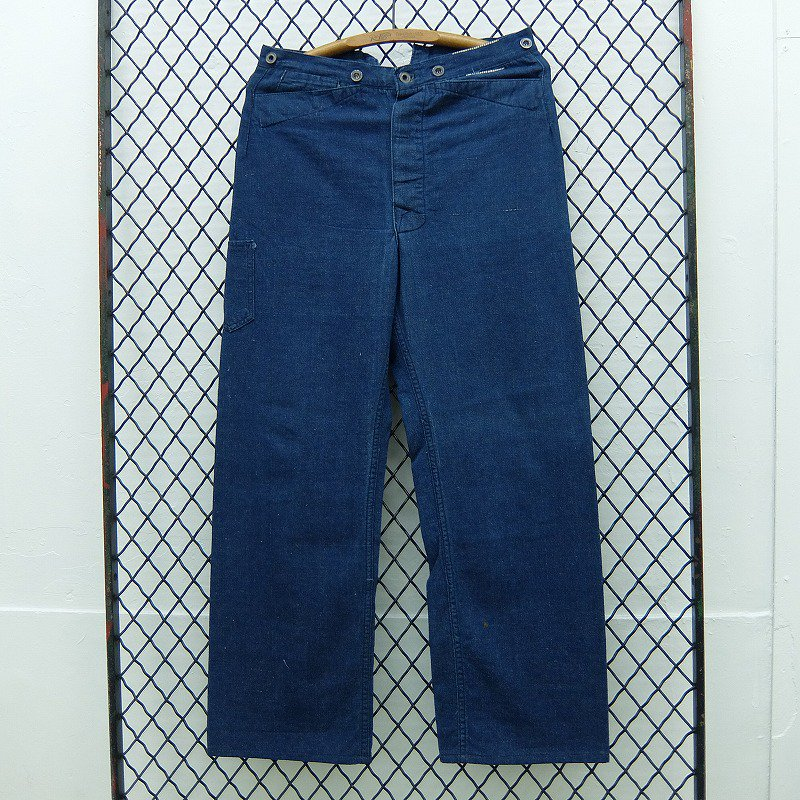 BLUE DENIM WORK TROUSERS