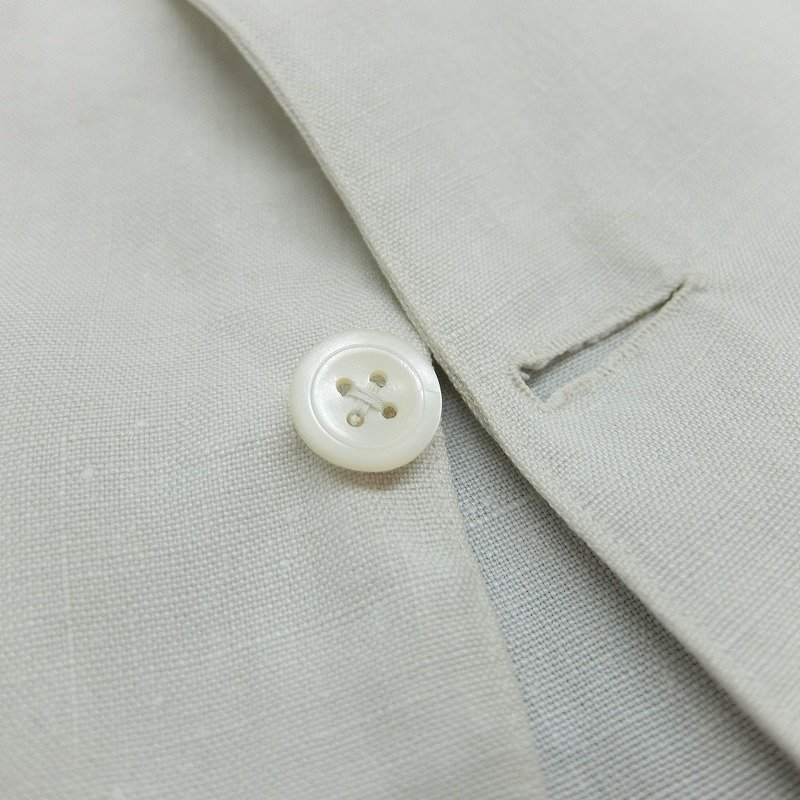 White Linen Tailored Jacket