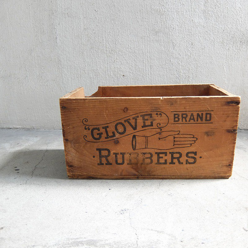 GLOVE RUBBERS BRAND Wood Box