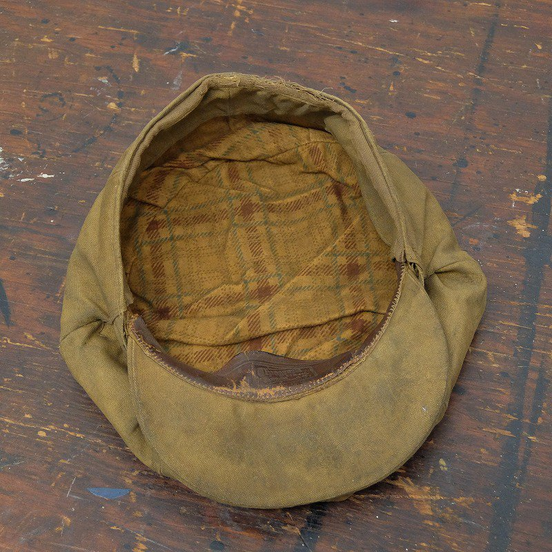 Brown Canvas Newsboy Cap