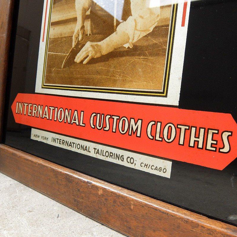 INTERNATIONAL CUSTOM CLOTHES Glass Sign