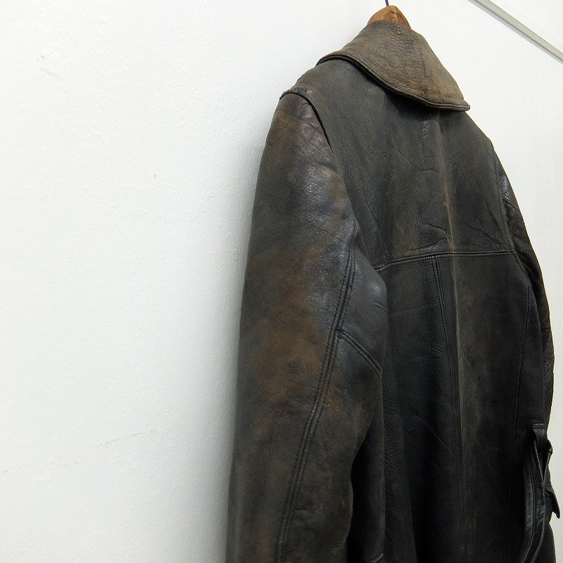 Double Breasted Horsehide Coat