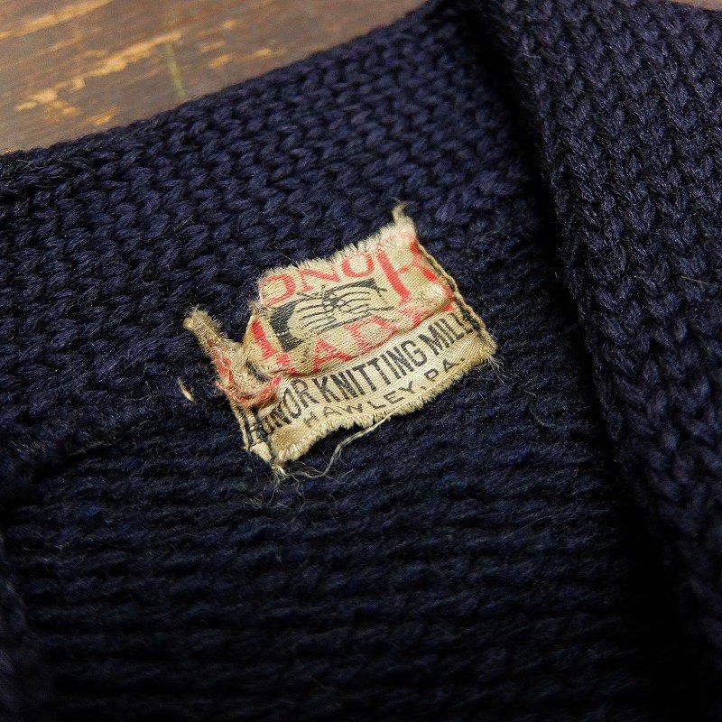 HONOR KNITTING MILLS Lettered Cardigan