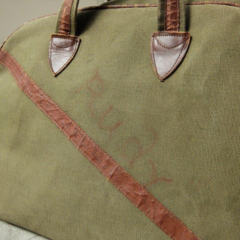 Vintage Canvas Boston Bag