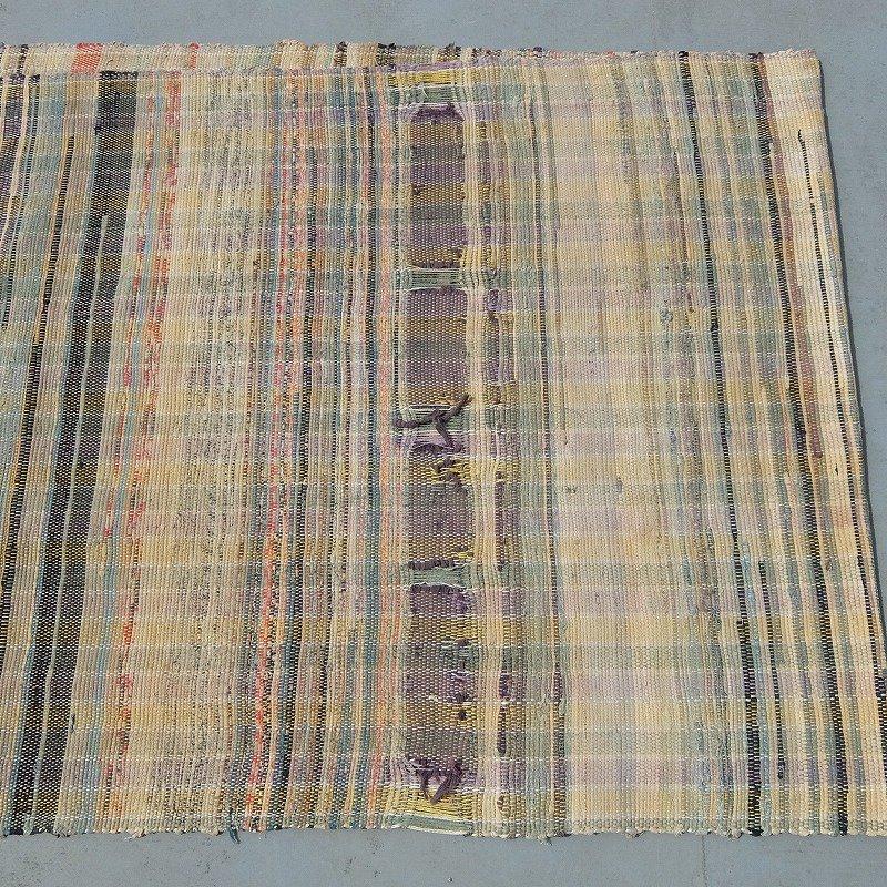 Vintage Scrap Rag Rug
