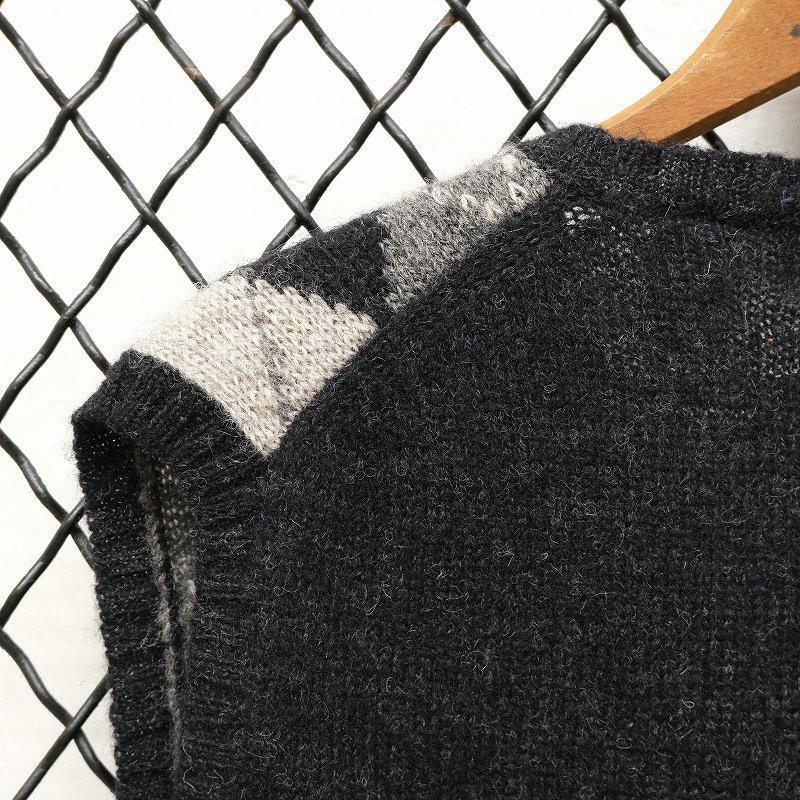 SHETLAND WOOL Argyle Pattern Vest