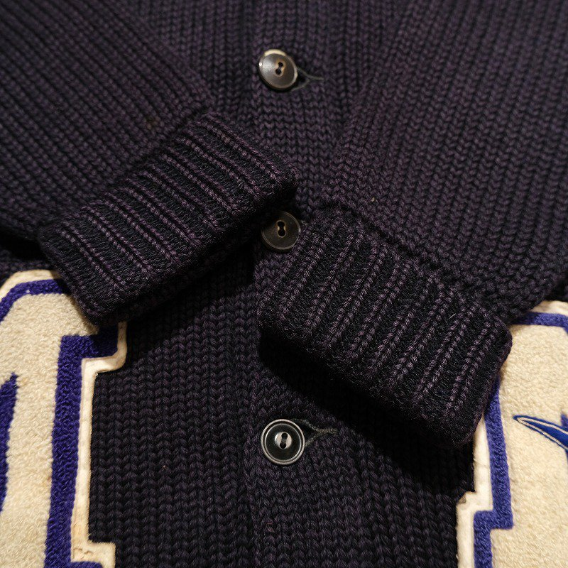 HONOR KNITTING MILLS Lettered Cardigan