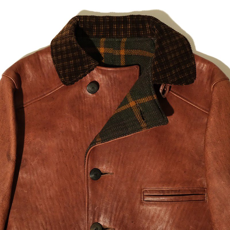 Leather Half Coat