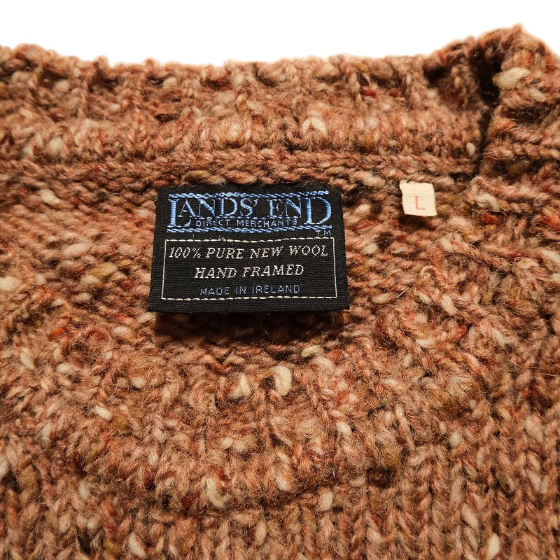 LANDS' END MIX KNIT SWEATER