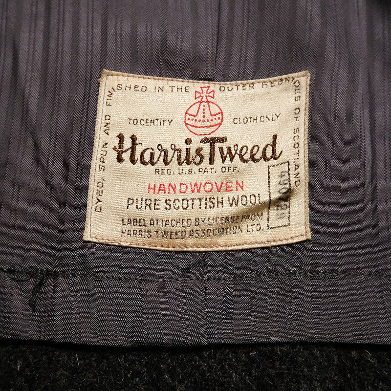 Vintage Harris Tweed Overcoat
