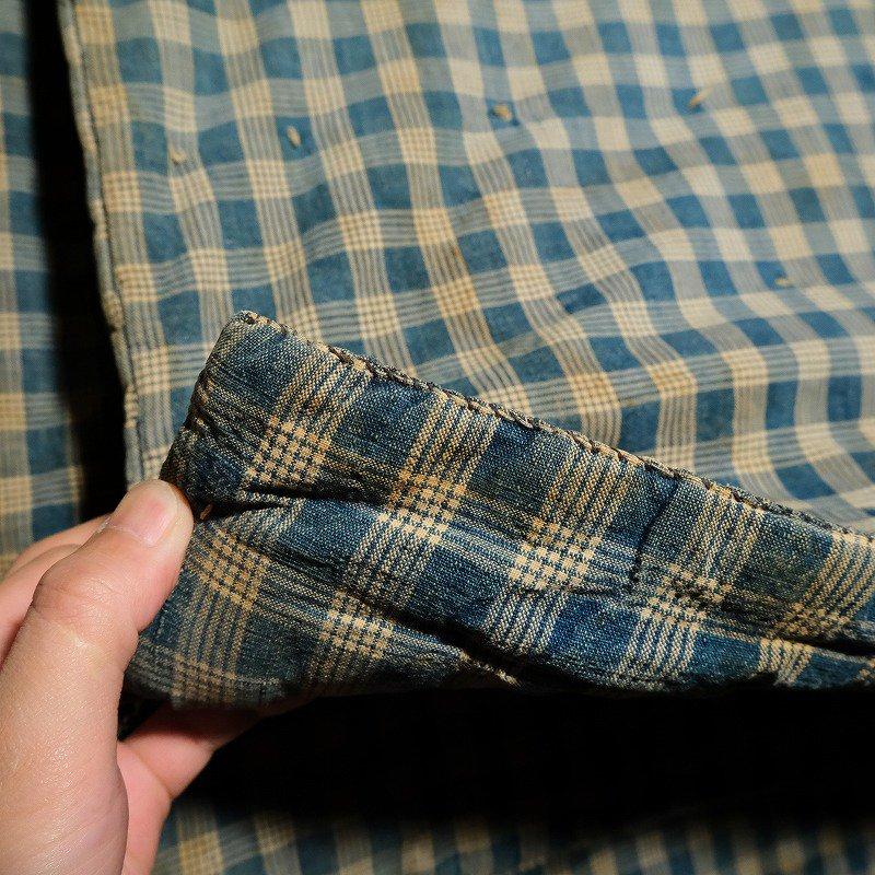 Antique Indigo Check Blanket