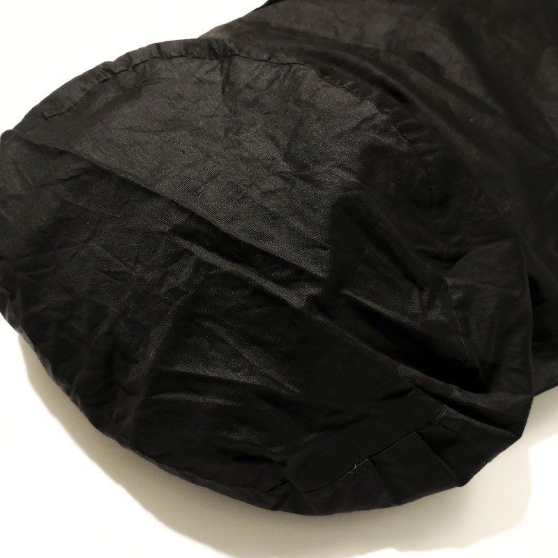 ANTIQUE BLACK COTTON SATIN BAG