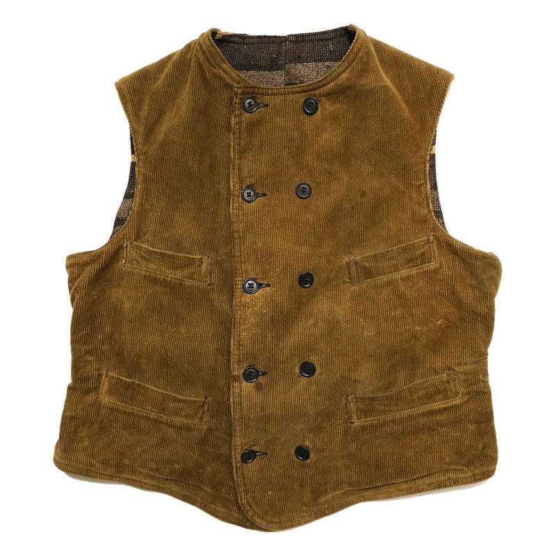 DOUBLE BREASTED CORDUROY WORK VEST