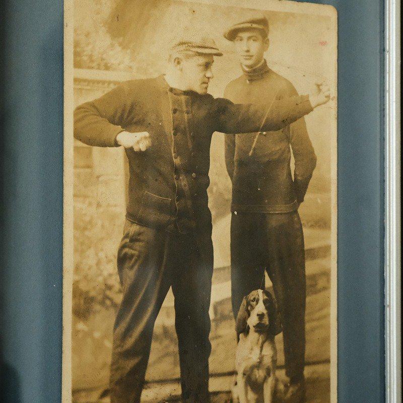 Antique Man & Dog Photo