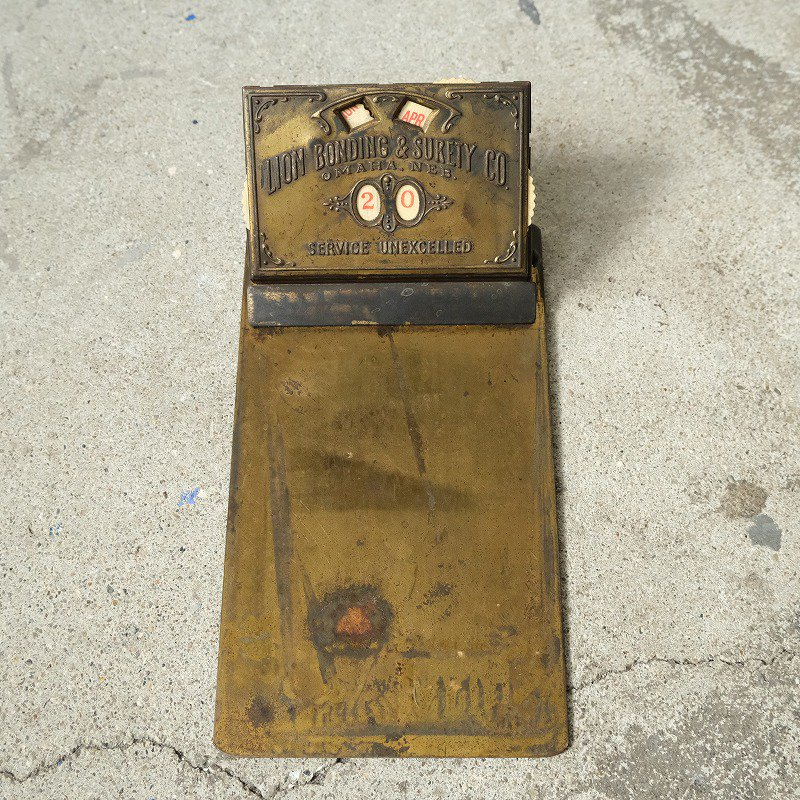 LION BONDING & SURETY CO. ANTIQUE CLIPBOARD