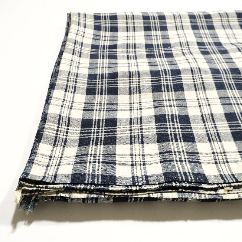 Indigo Checked Linen Cloth