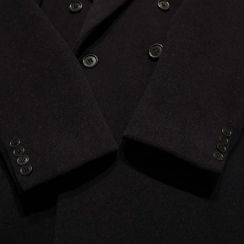 CROMBIE DOUBLE BREASTED WOOL COAT