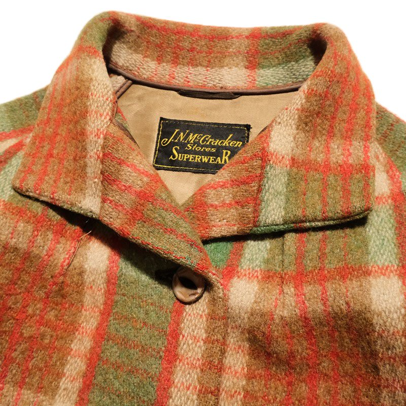 J.N.Mc Gracken Stores SUPERWEAR WOOL COAT