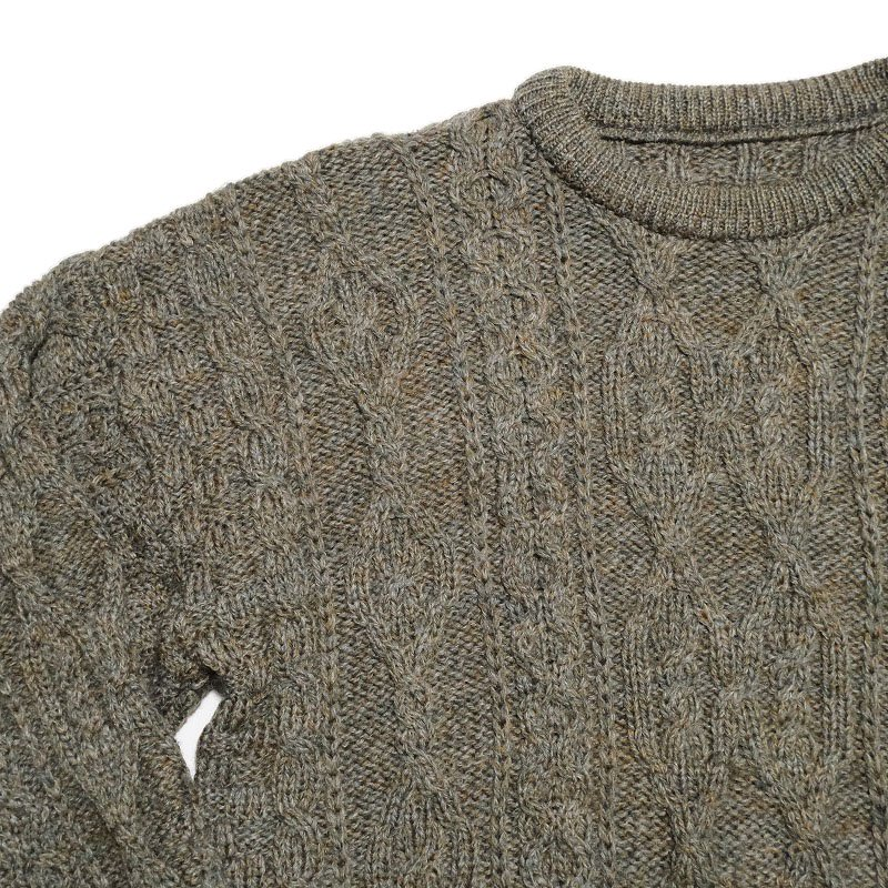 Olive Green Fisherman Sweater
