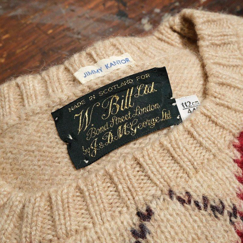 W. Bill Ltd, Argyle Shetland Sweater