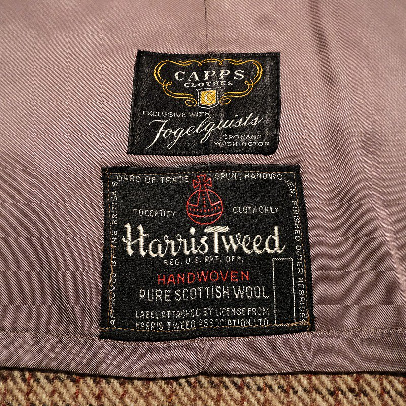 CAPPS CLOTHES Harris Tweed Coat