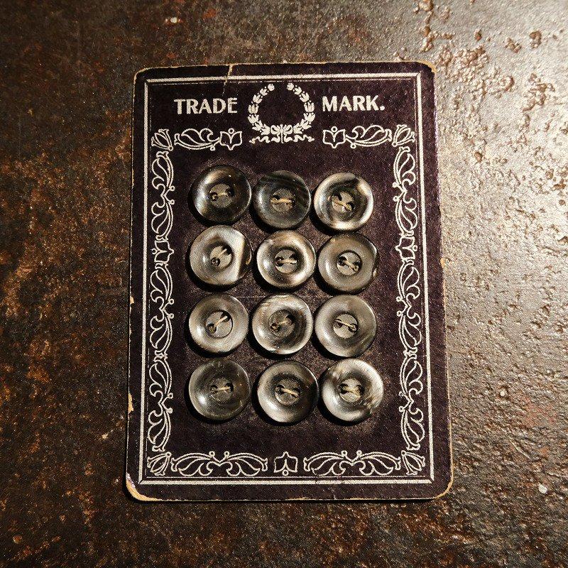 Antique Gray Shell Button