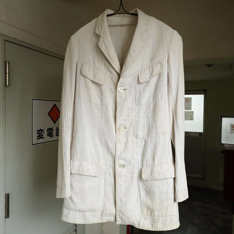 Stripe Linen Sack Coat