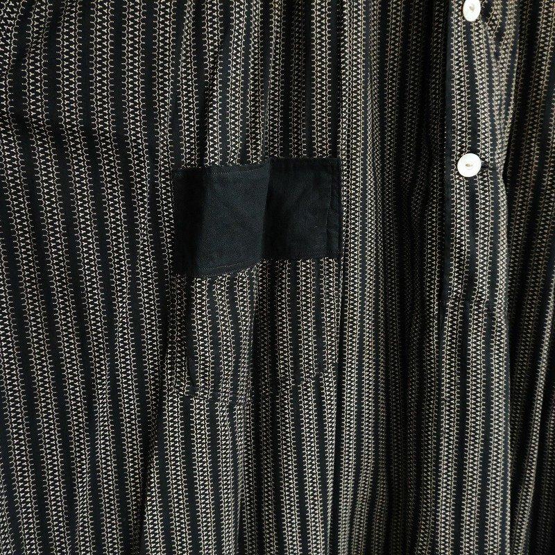 Antique Black White Cotton Dress