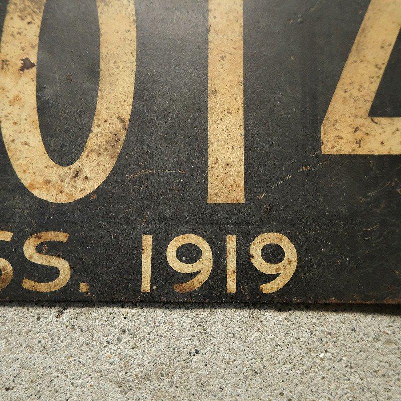 1919 MASSACHUSETTS CAR LICENSE PLATE
