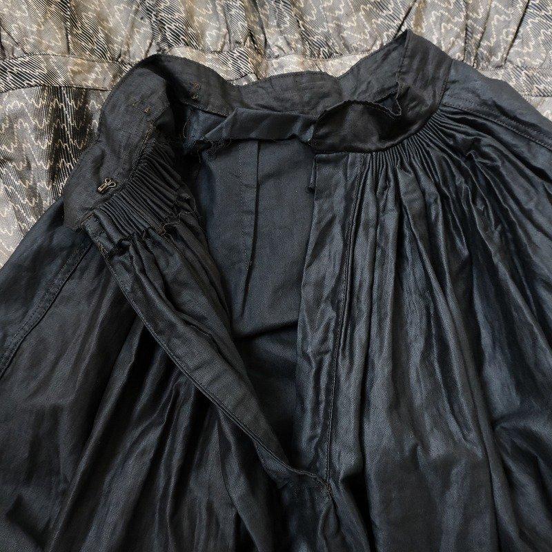 ANTIQUE BLACK COTTON SKIRT