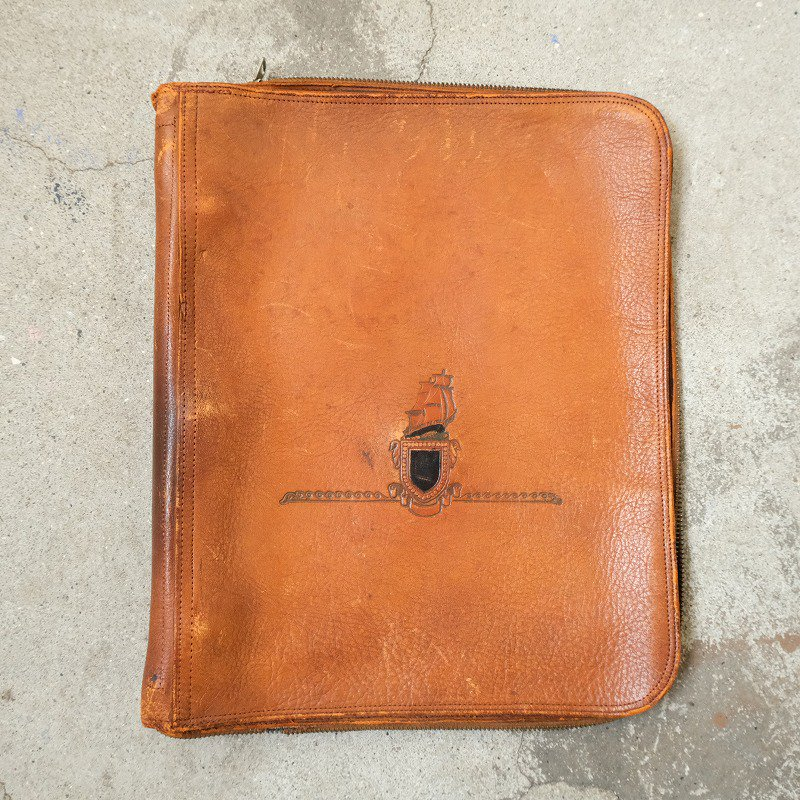 LEATHER RING FILE BAG