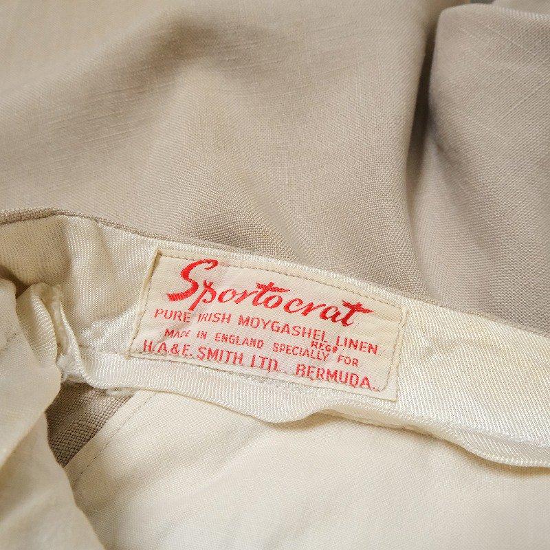 H.A.&E. SMITH LTD. TUCKED LINEN SHORTS