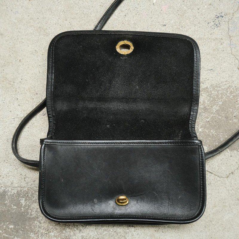 OLD COACH LEATHER SHOULDER BAG