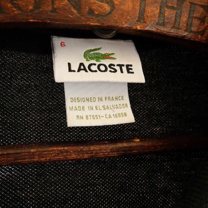 LACOSTE BLK L/S POLO SHIRT
