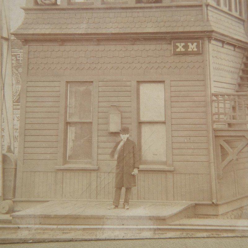 ANTIQUE PHOTO (MEN,HOUSE)