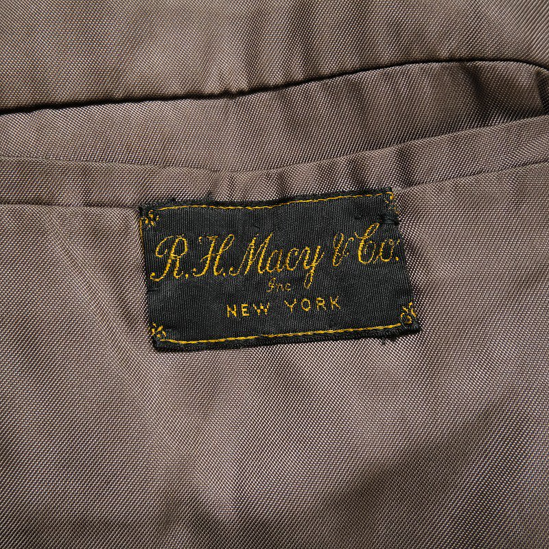 R.H.MACY & CO. DOUBLE BREASTED COAT