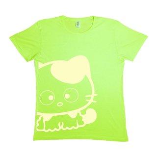 ビックサイズプリントTシャツS(Green×White)  TA
