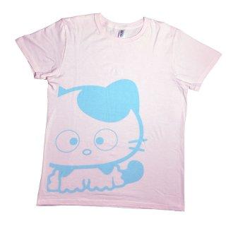 ビックサイズプリントTシャツ(Pink×Blue)S  TA