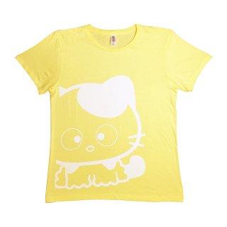 ビックサイズプリントTシャツS(Yellow×White)  TA