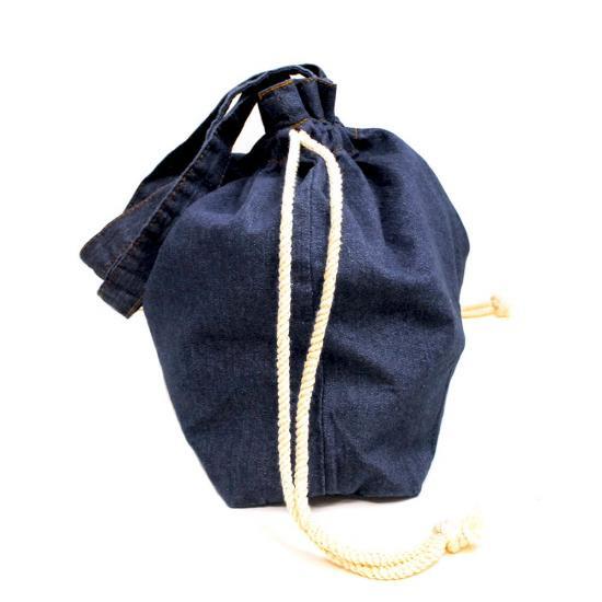 【公式ショップ限定】デニム巾着バッグA(ダークブルー)TA