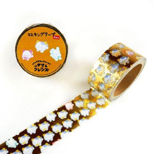 【生産終了品】箔押しマスキングテープ(タマだらけ2) TM-MK-011 TA