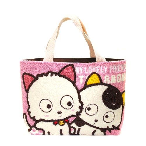 サガラ刺繍ランチトートバッグ(タマ&モモ) TF02 TA