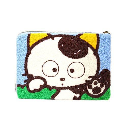 サガラ刺繍フラットポーチ(タマ) TF04 TA