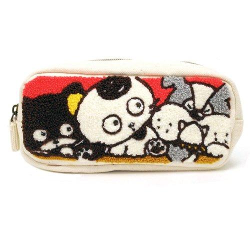 サガラ刺繍スクエアポーチ(タマ&ブル&ベー)TF06 TA