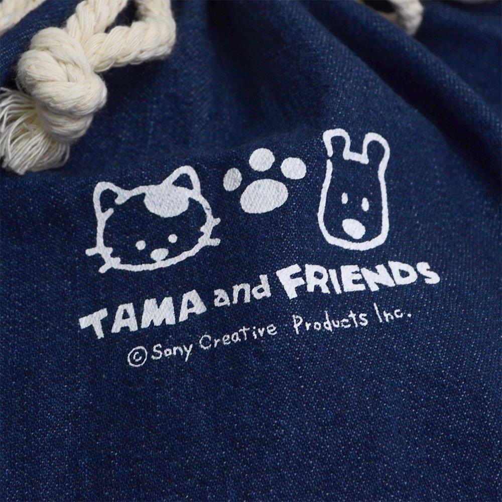 【公式ショップ限定】デニム巾着バッグB(ダークブルー)TA