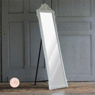 スタンドミラー ホワイト Mサイズ アバロン gm-23011 リプロ