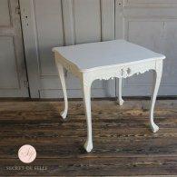 サイドテーブル 幅80cm  ホワイト 4235-9-18 リプロ B 80*80*10