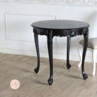 ラウンドテーブル ブラック 4235-8-8 リプロ B 80*80*10